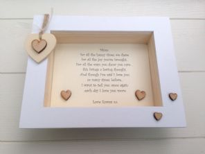 Shabby Personalised Chic Box Frame  Mummy Mum Special Gift Mother Sentimental